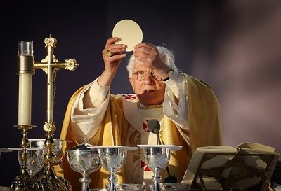 The Pope celebrating Mass during his UK visit
