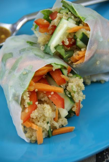 rolls spring rolls chinese chicken spring rolls sesame ginger quinoa ...
