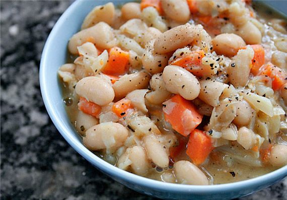 Tuscan White Beans recipe- Lunch #freezercooking #vegetarian #oamc