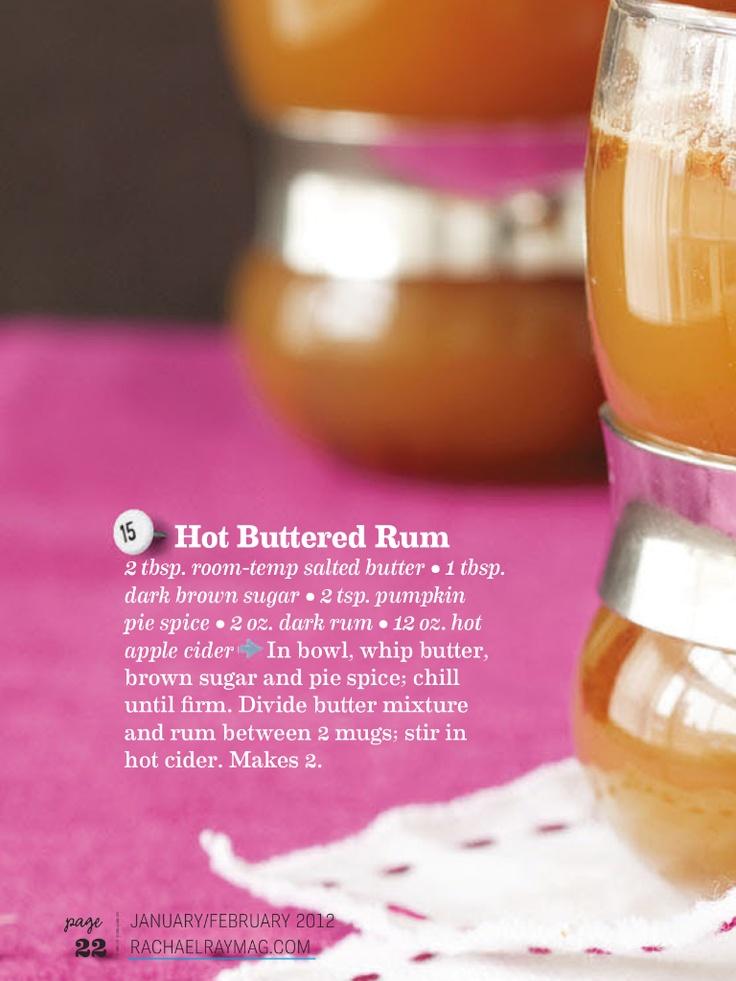 Hot buttered rum | Mama Drinks | Pinterest