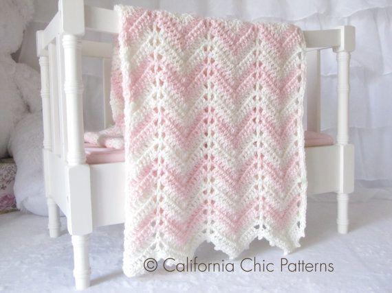 Easy Crochet PATTERN 55 - Chevron Series - Crochet Blanket ...