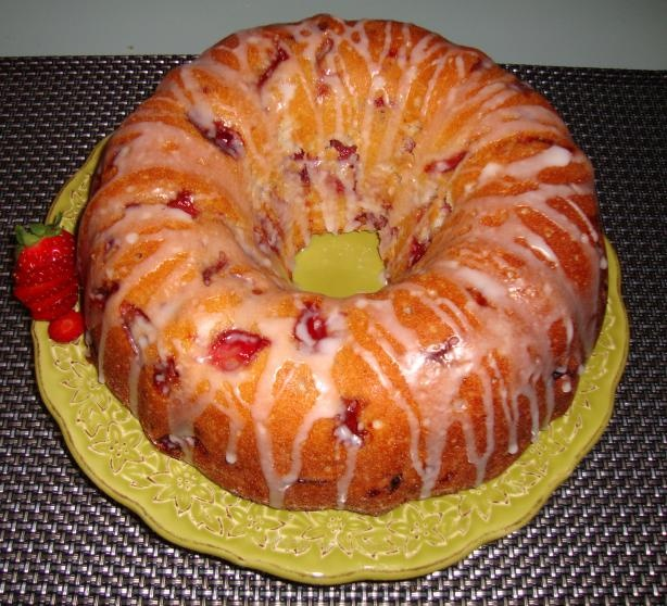 ... Fresh Strawberry Yogurt Cake from Food.com: This super moist cake