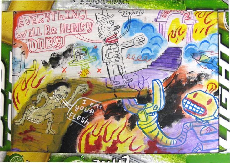 Outsider Art Artist Folk Neo Raw Painting
