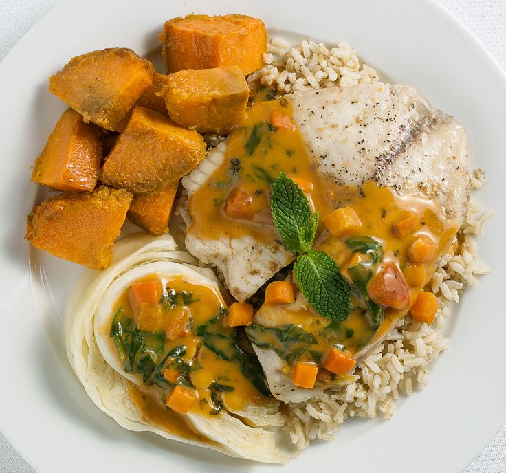TILAPIA WITH THAI RED CURRY: Fresh Tilapia baked and served over ...