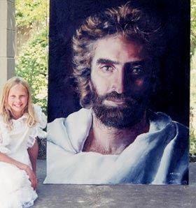 Kid Paints Picture Of Jesus