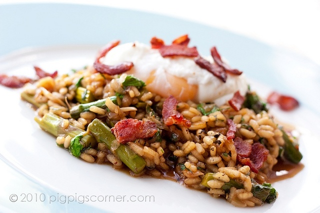 Asparagus Risotto with Bacon Broth | Savory Bites | Pinterest