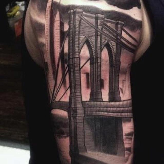 Brooklyn bridge tattoo nalla smith goose tattoo for Club ink tattoo brooklyn