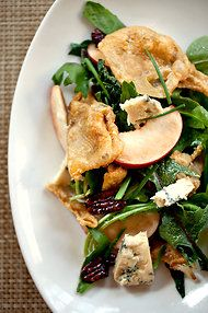 Salad with Stone Fruit, Blue Cheese and Chicken Skin - sub some ...