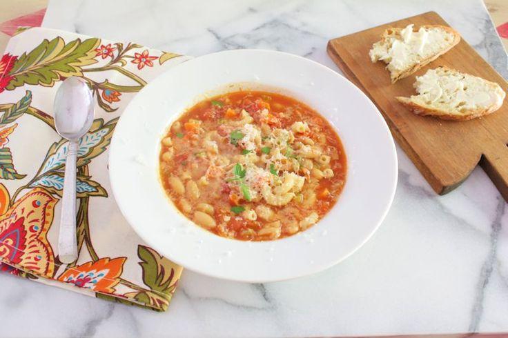 Pasta and Bean Soup (Pasta e Fagiolo) | Super Soups | Pinterest