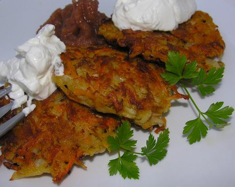 Variegated Spiced Latkes | Recipe