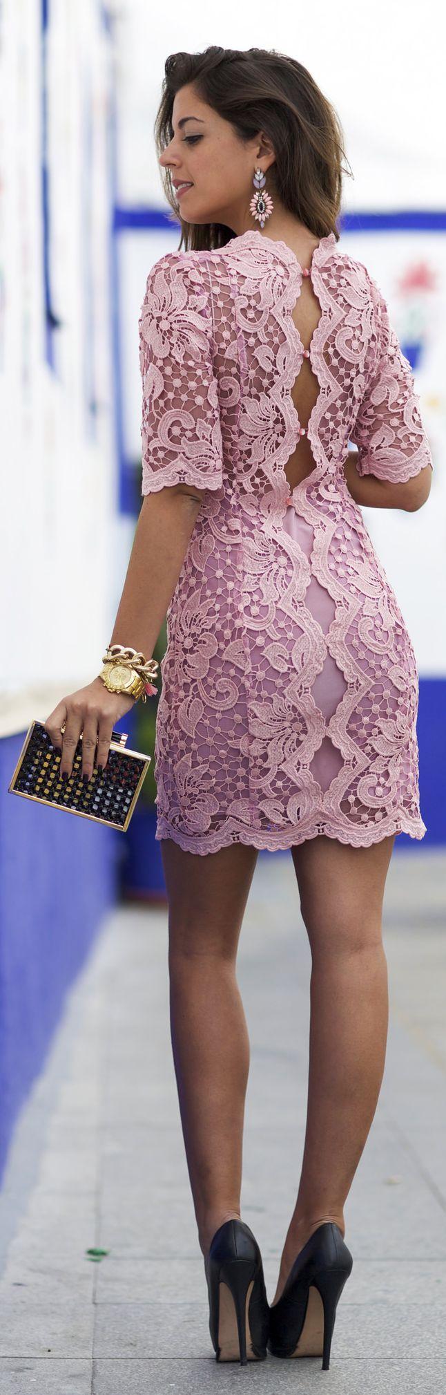 Flirty Open Back Lace Lpd by
