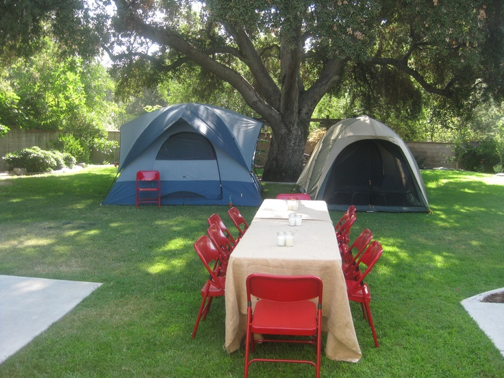Camping in the backyard | Birthday ideas | Pinterest