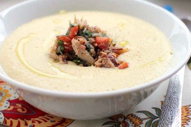 Fresh Corn Soup with Tomato-Crab Salsa | Favorite Recipes | Pinterest