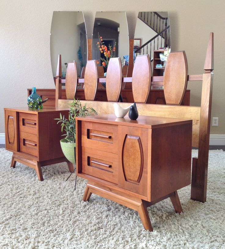mid century modern king bedroom set mid century love pinterest