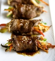 Pan-Seared Steak Rolls. An Asian-oriented dish that looks and sounds ...