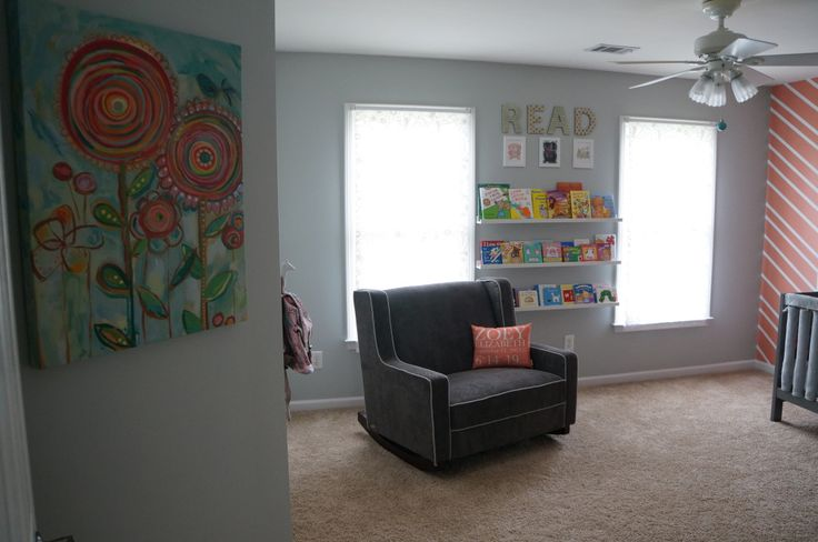 We love this One and a Half Seat Rocker from @Target in this fab gray nursery!
