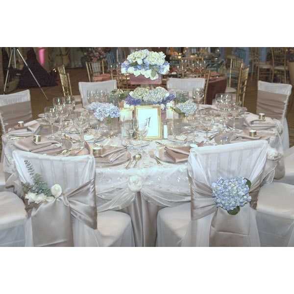 Pin by josefina herrera on chair cover pinterest for Table and chair decorations for weddings