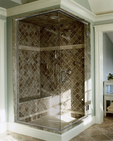 Corner Shower The Bathroom Pinterest