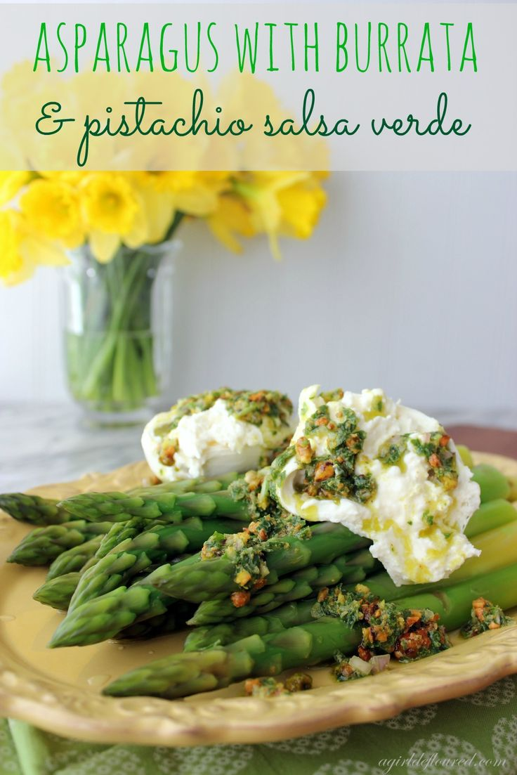 asparagus with burrata | Things to Eat (Appetizers & Snacks). | Pinte ...