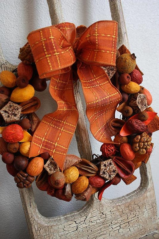 potpourri wreath for Autumn DIY tutorial ~~