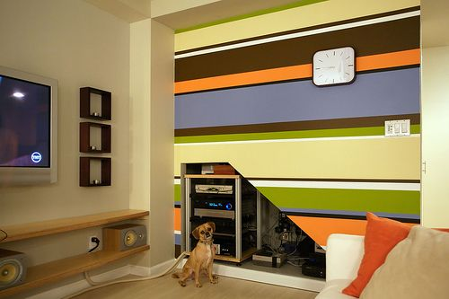 play room 1/2 wall design? (stripes, not the color!)