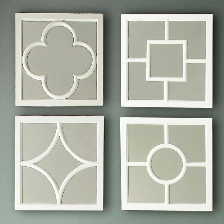Set of 4 Geometric Mirrors This has potential for a DIY of the 4 ...