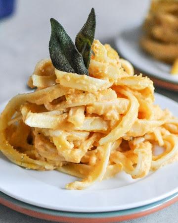 Baked Pumpkin Fettuccine Alfredo | Foods | Pinterest