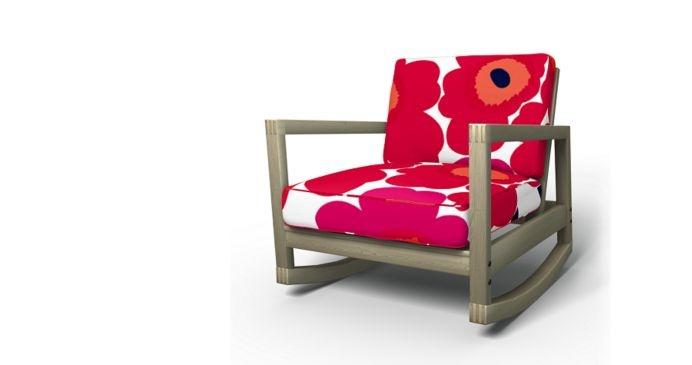 Cover to update Ikea Lillberg Rocking chair  Bemz / Marimekko