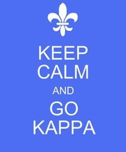 Keep Calm and Go Kappa