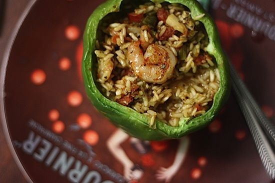 Andouille, Chicken, And Shrimp Jambalaya-Stuffed Peppers ...
