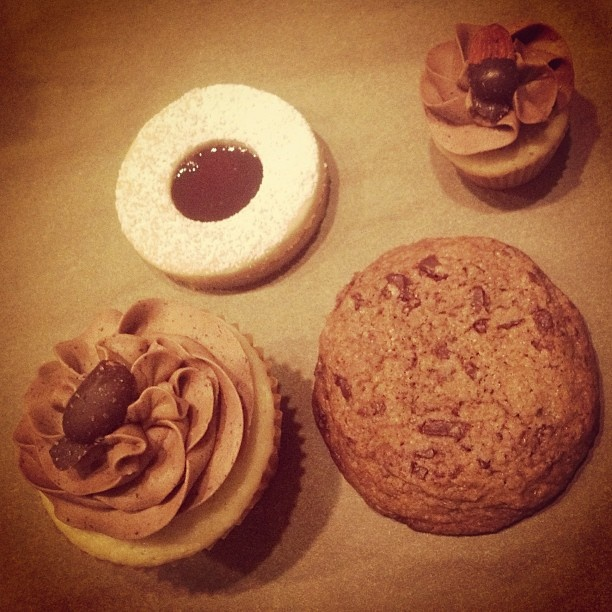 cookies, chocolate chunk cookies, and salted chocolate almond cupcakes ...
