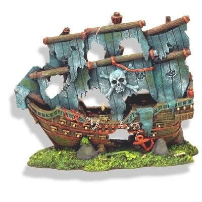 Aquarium decorations pirate ship details about pirate for Aquarium decoration shipwreck