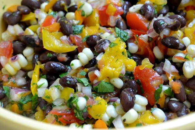 Black Bean, Corn and Mango Salsa with Homemade Tortillas
