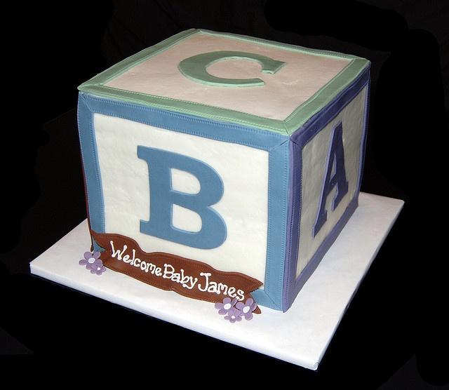 Baby Block Cake Images : Baby block cake OmNomNoms Pinterest