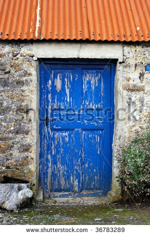 Old Irish Cottage Door