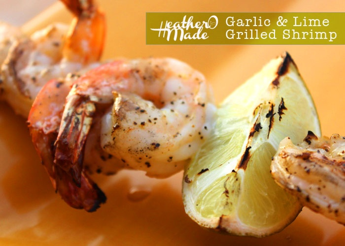 garlic & lime grilled shrimp. #recipe #food #heatheromade