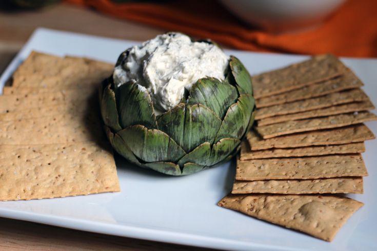 Recipe: Artichoke Lemon Pesto Dip in a Artichoke Dipping Bowl ...