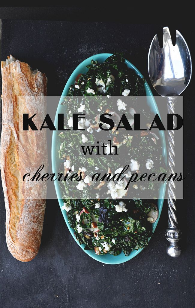 Kale Salad with Cherries and Pecans - A Life Well Lived