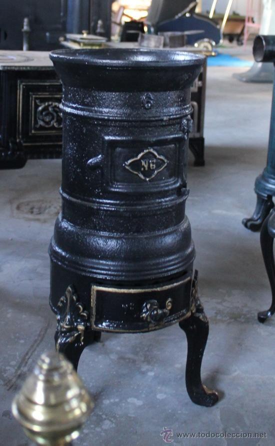 Estufa de hierro estufas antiguas pinterest - Estufa de hierro ...