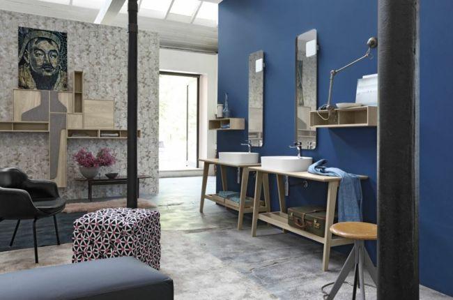 salle de bain unique en bleu salle de bain pinterest