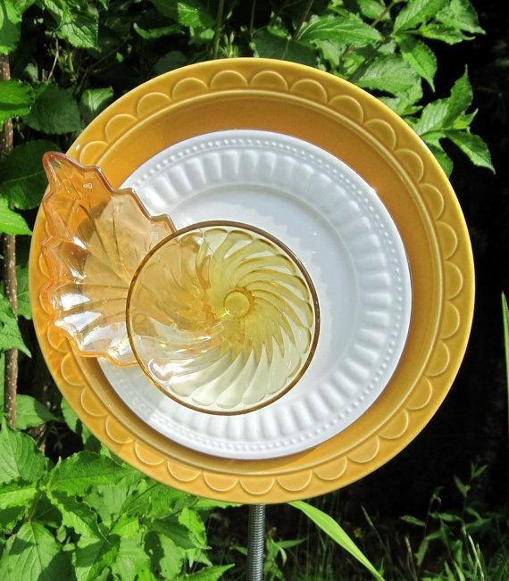 Recycled glass garden art flower garden art pinterest - Recycled glass garden art ...