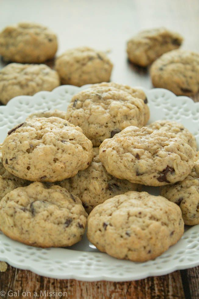 Thick and Chewy Oatmeal Chocolate Chunk Cookies | Recipe on ...