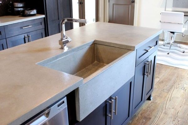concrete countertops color dream house pinterest. Black Bedroom Furniture Sets. Home Design Ideas