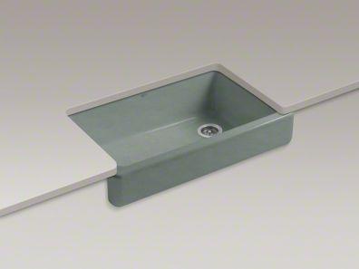 Self Trimming Farmhouse Sink : Kohler whitehaven sink Kitchen + bath . Pinterest