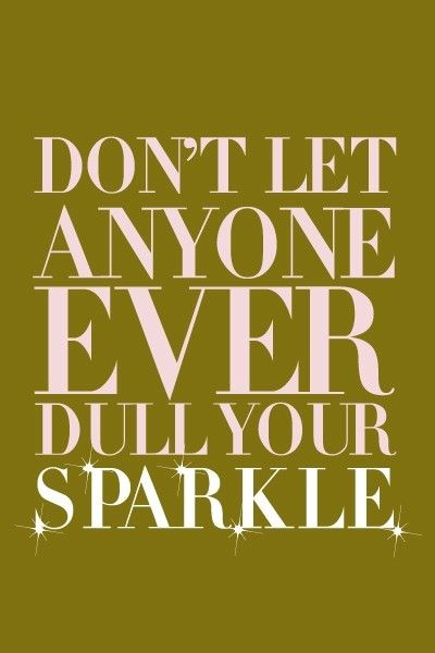 Sparkle- haha reminds me of Caroline!!!