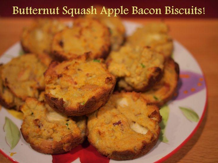 Butternut Apple Bacon Biscuits!! | Breakfast | Pinterest