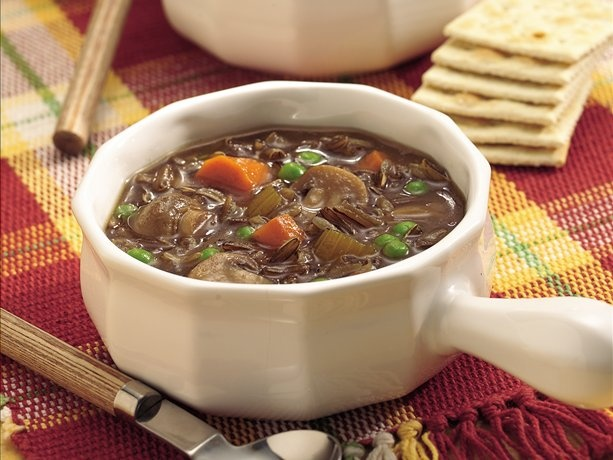 Slow Cooker Wild Rice and Mushroom Soup- Sub Mushroom broth for beef ...