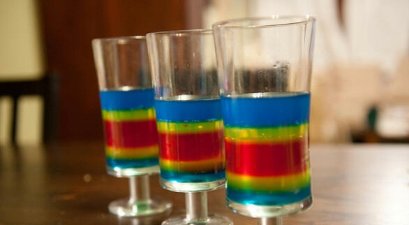 Another Rainbow shots recipe found at http://taste-for-adventure ...