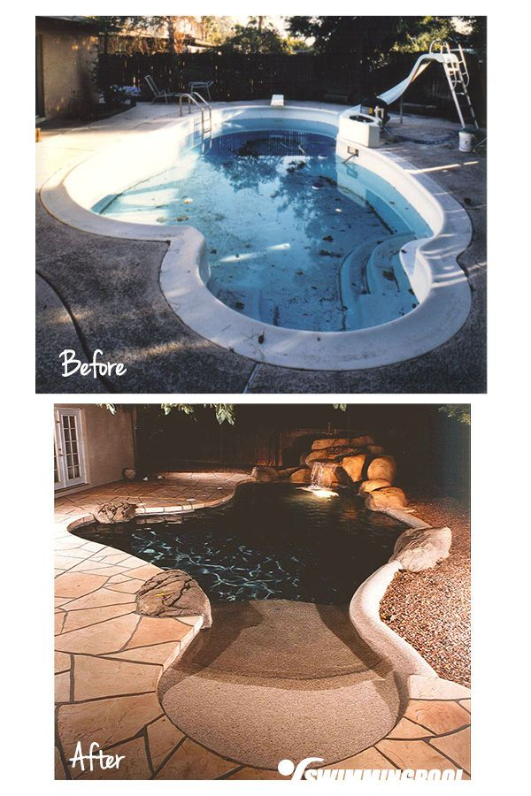Backyard With Pool Remodel : idea for personalizing your backyard pool when making pool remodeling