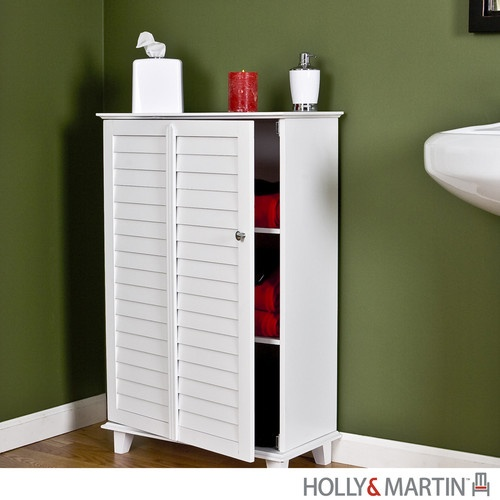 clara white bathroom towel rack floor cabinet furniture storage holly